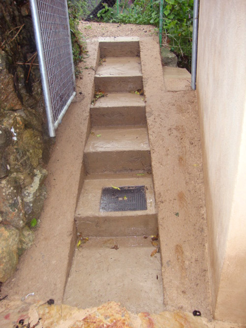 Reform of exterior stairs
